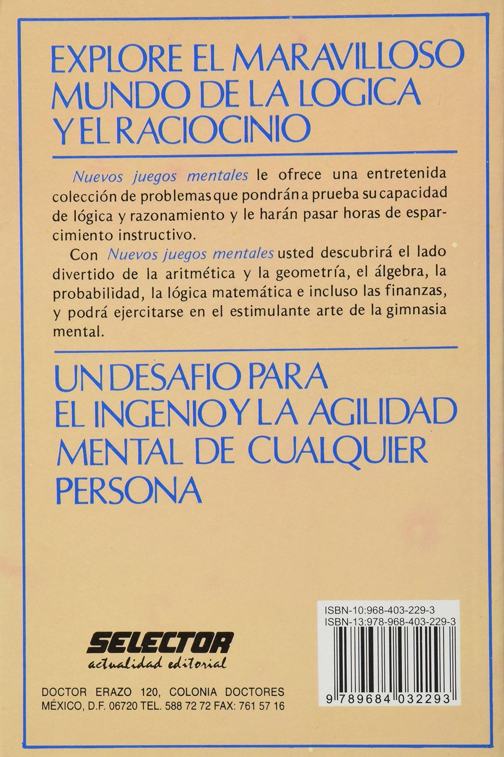 Buy Nuevos Juegos Mentales New Mind Games Book Online At Low