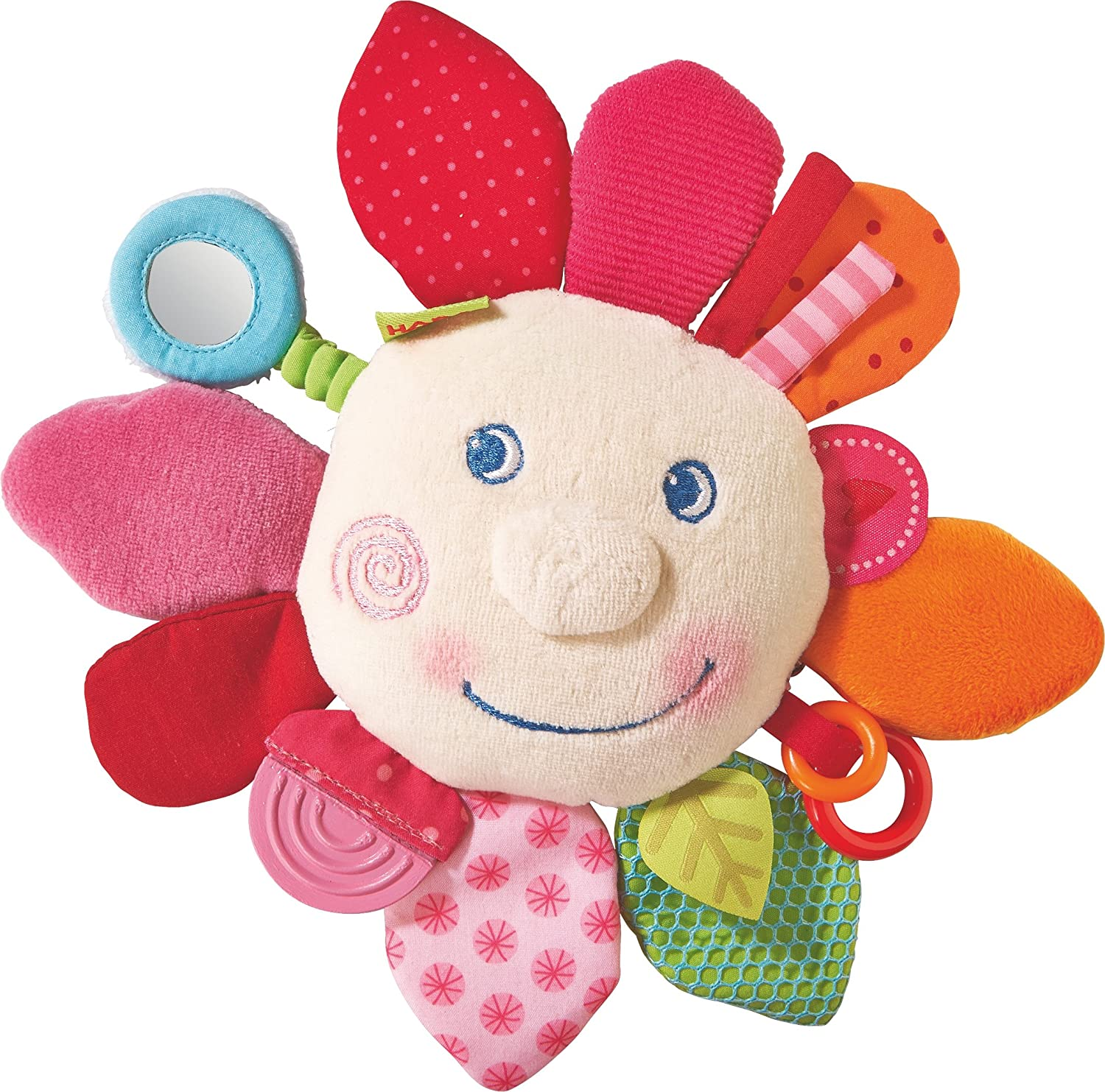 HABA Cuddly Spring Flower Teether Activity Toy