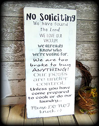 funny no soliciting sign housewarming gift bridal shower present