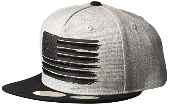a1e609c4 WITHMOONS Baseball Cap Star and Stripes American Flag Hat KR2305 (Grey, L)