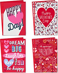 Hallmark Valentines Day Cards Assortment for Kids, Be Happy (8 Valentine's Day Cards with Envelopes)