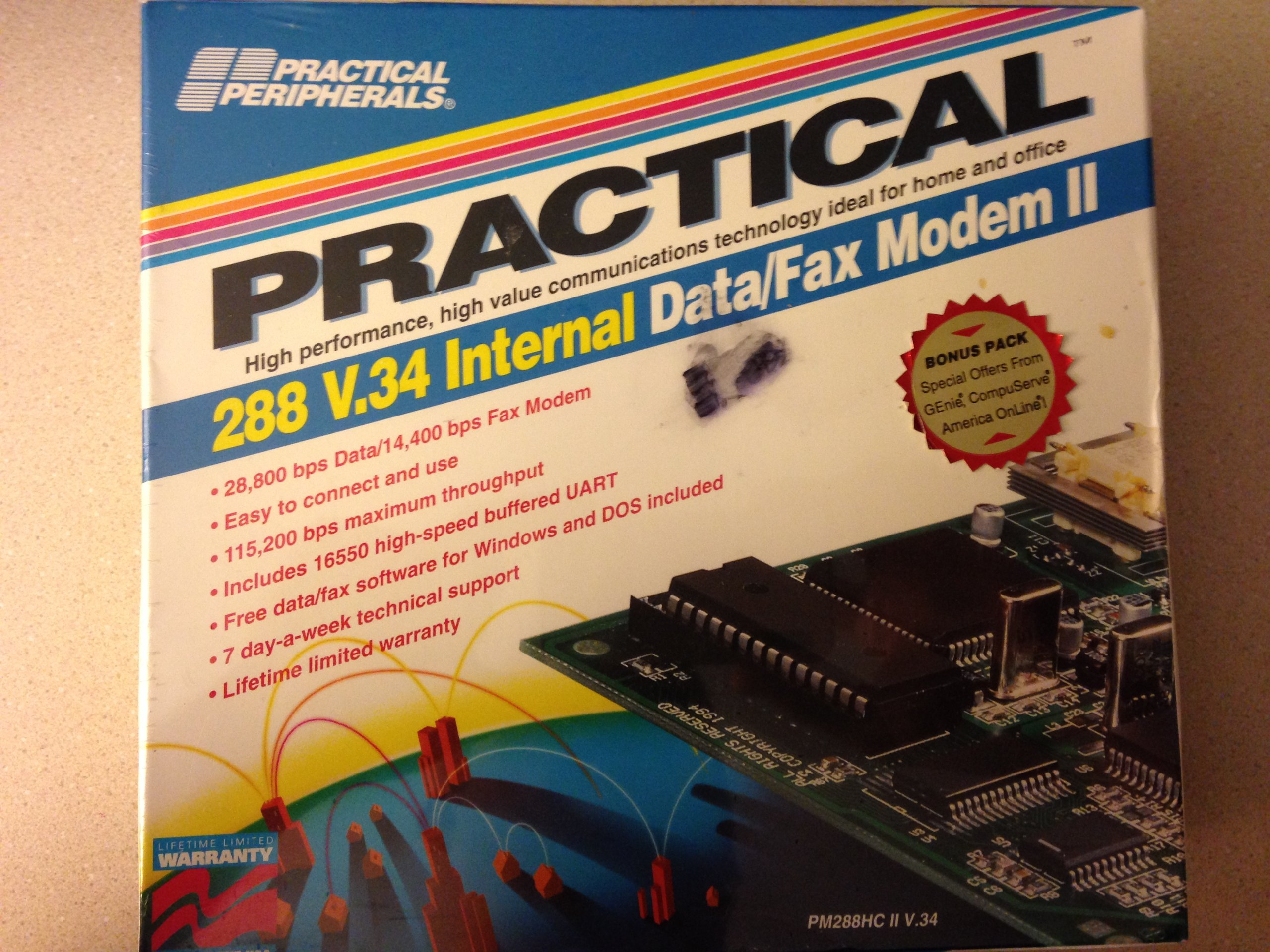 Practical Peripherals 288 V.34 Internal Data / Fax Modem 2 by Practical Peripherals, Inc. (Image #1)