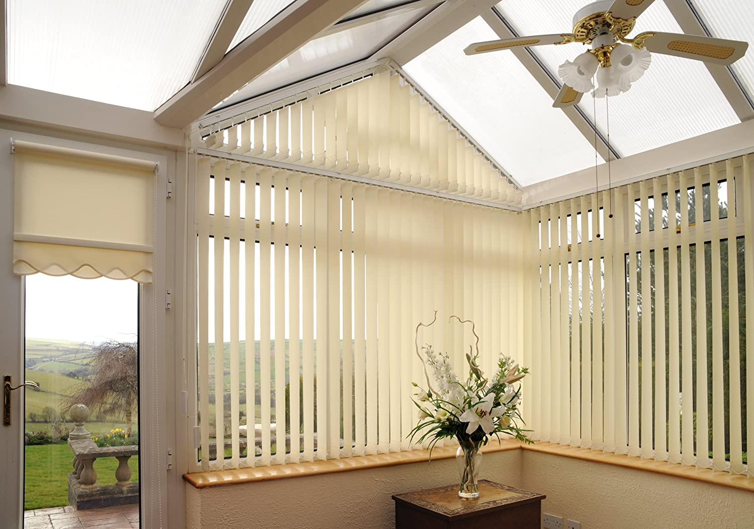 Complete Made To Measure Vertical Blind within 2500mm wide x 2500mm drop 35 Colours,Free Delivery Beautiful Blinds Direct