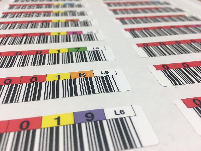 20 LTO 6 Data Cartridge Labels Tri-Optic