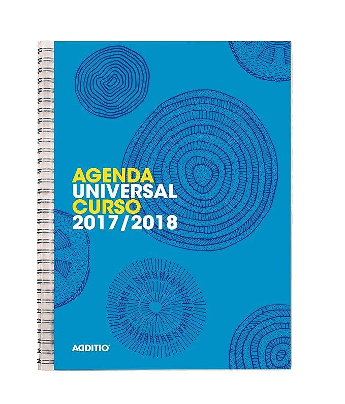 Additio Universal - Agenda 2017-18 día página, color azul