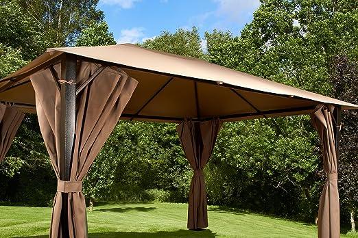 Venecia Heavy Duty acero Garden Gazebo 3 x 4 m bronce y beige: Amazon.es: Jardín