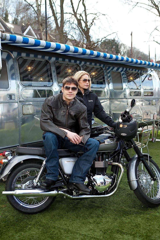 Amazon.com: Thruxton Weise – Chaqueta de moto de piel ...