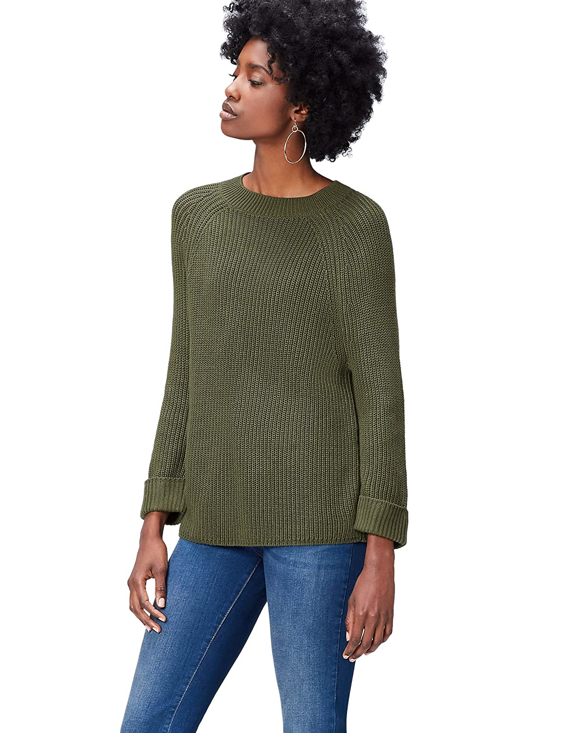 FIND Pullover Donna a Girocollo KSH0893