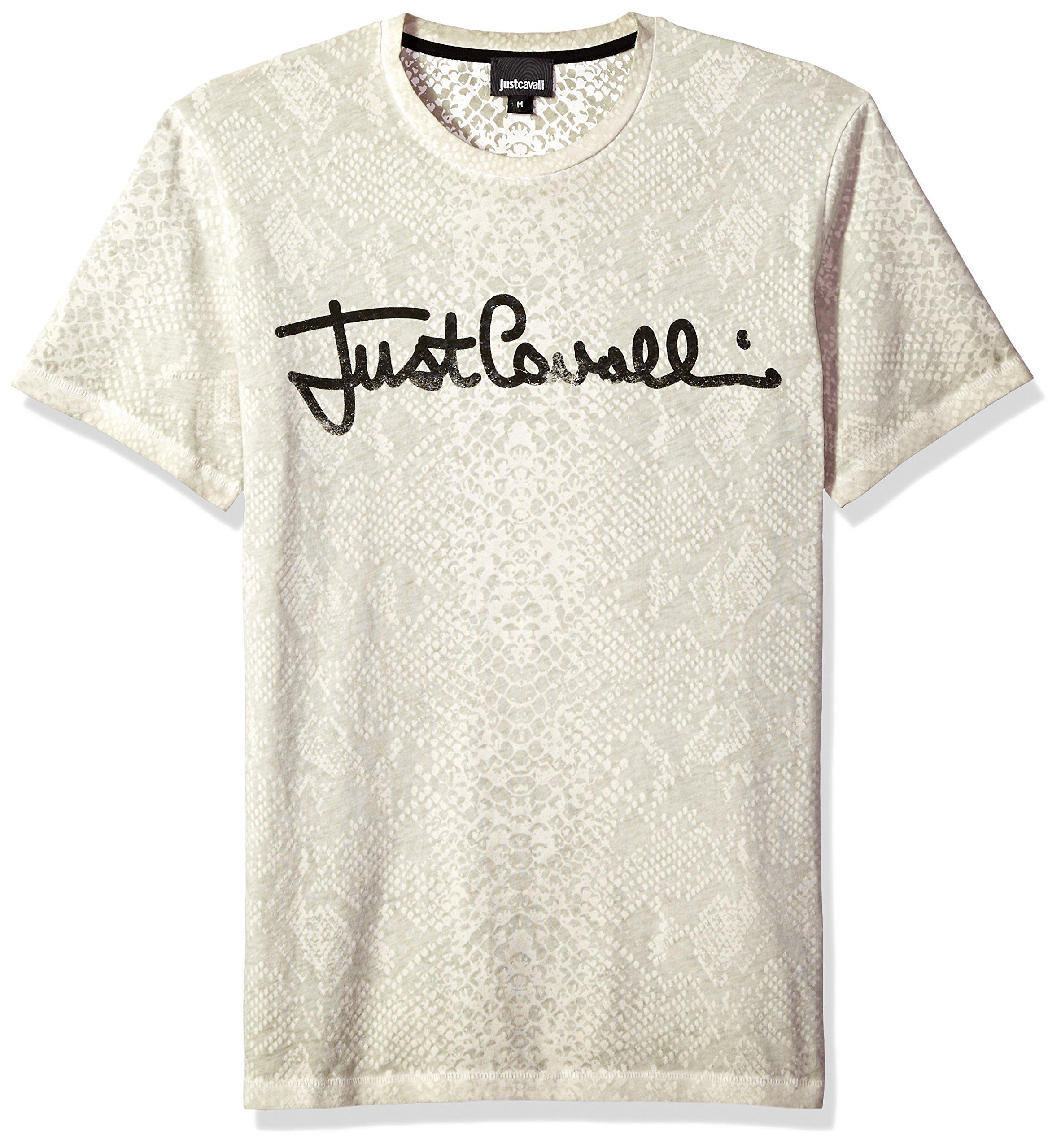 Just Cavalli Mens Signature Tee, Chalk M