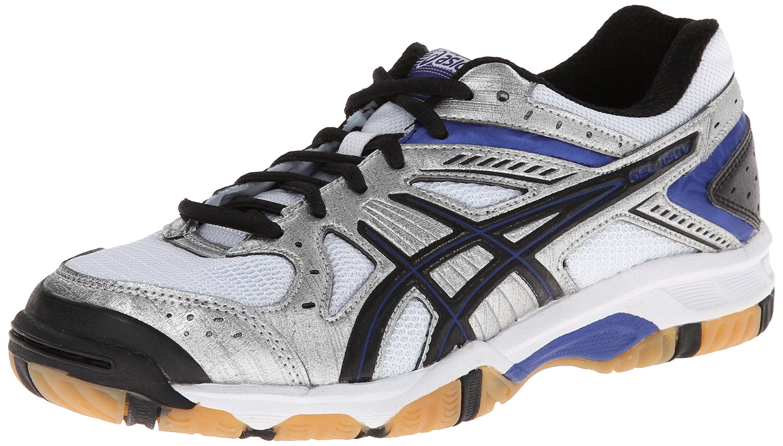 ASICS Women's Gel 1150V Volley Ball Shoe,Silver/Royal/Black,7.5 M US