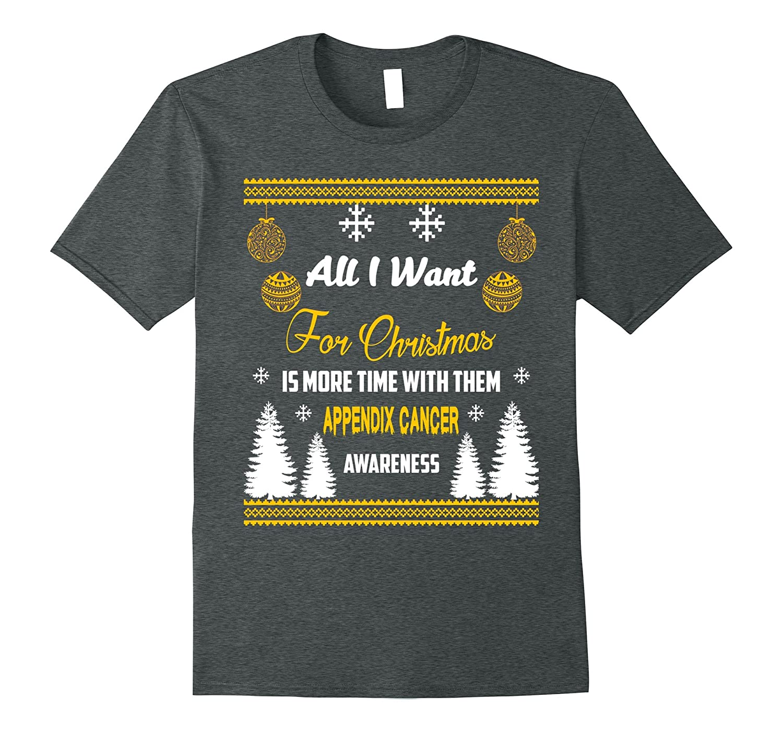 Support Appendix Cancer Awareness Christmas Jumper T-Shirt