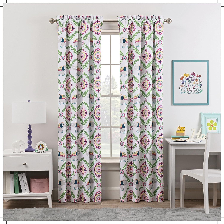 WAVERLY Kids Bollywood Single Window Curtain Panel, 42x63, Green