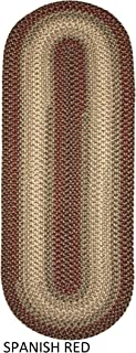 product image for Rhody Rug Ellsworth Indoor/Outdoor Reversible Braided Runner Rug by (2' x 8') Red/Beige