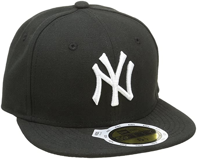 add8d66747c65 New Era New York Yankees Cap 59fifty Basic Fitted Cap Kappe Kids Youth  Children