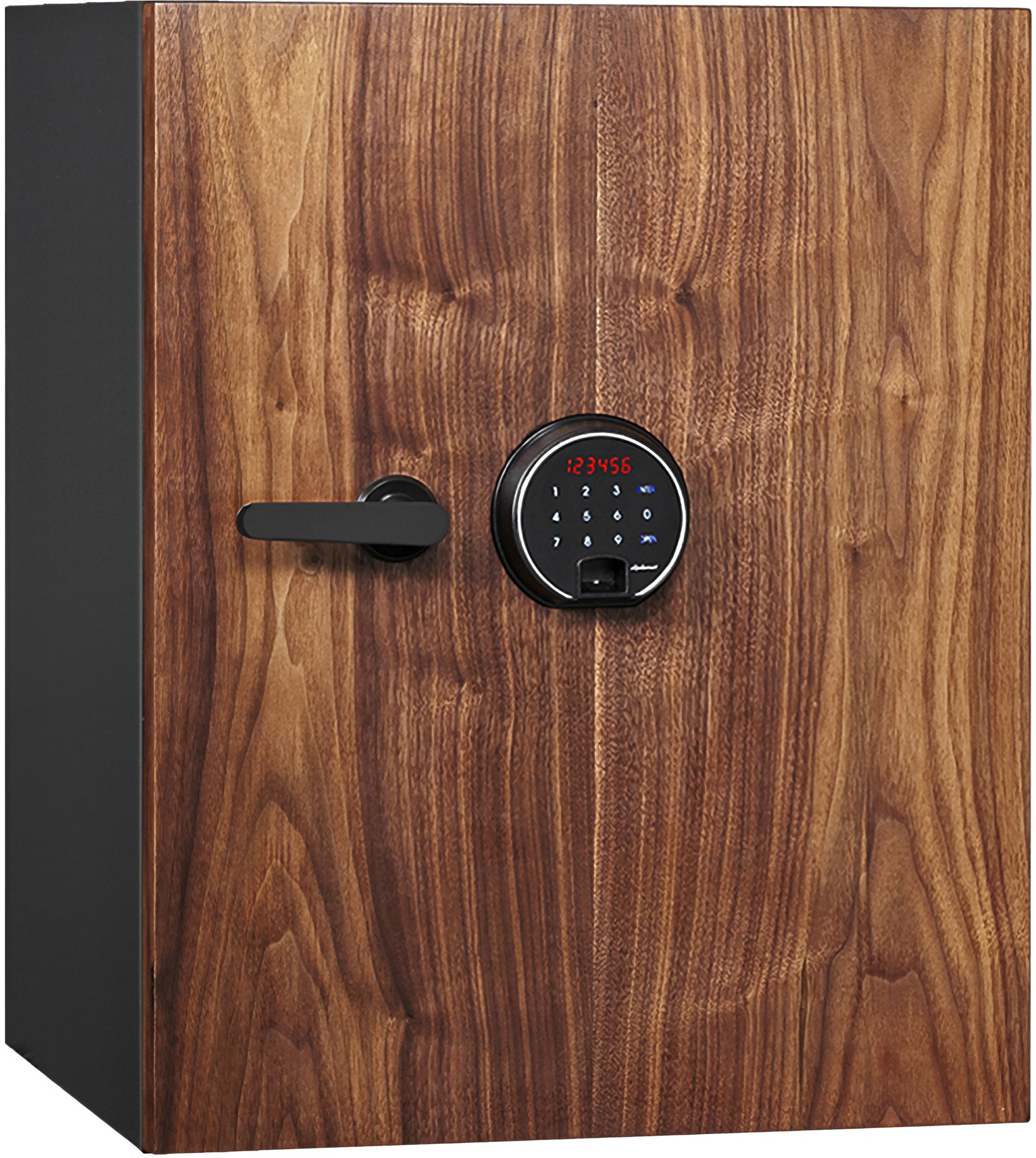 Phoenix DBAUM Fingerprint Lock Luxury Fireproof Safe with Walnut Door 2.28 cu ft