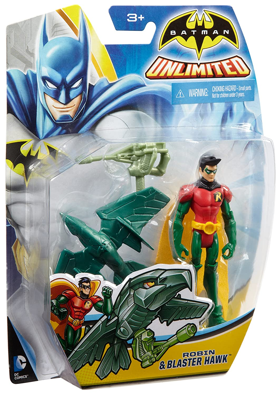 Batman Unlimited Robin and Blaster Hawk Action Figure