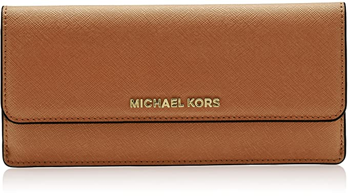 8854dbeb9172 MICHAEL Michael Kors Jet Set Travel Slim Saffiano Leather Wallet ...