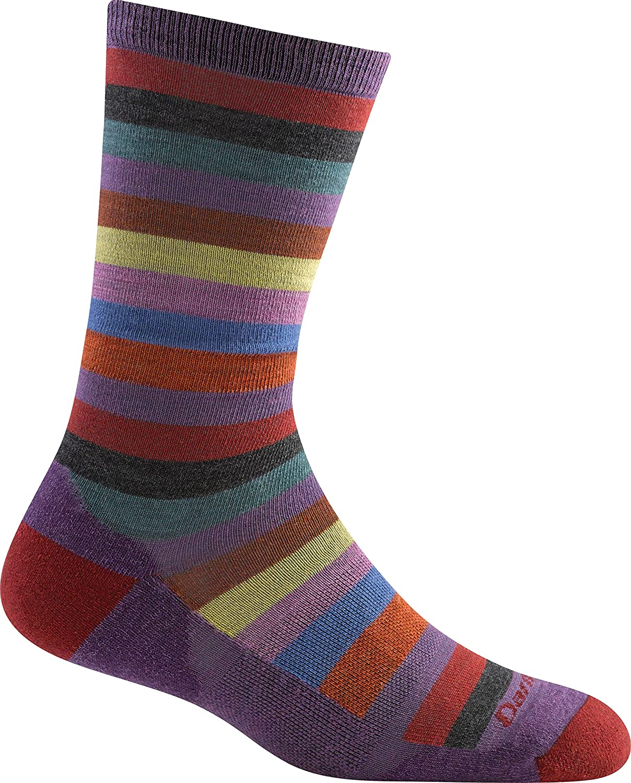 Darn Tough Women's Phat Witch Crew Plum socks Small M 1644