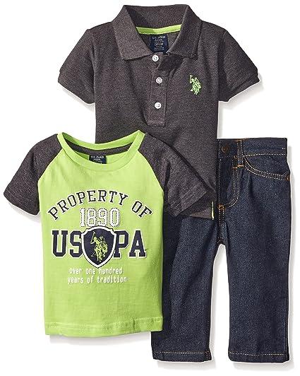 83604ef52 Amazon.com  U.S. Polo Assn. Baby Boys  3 Piece Polo