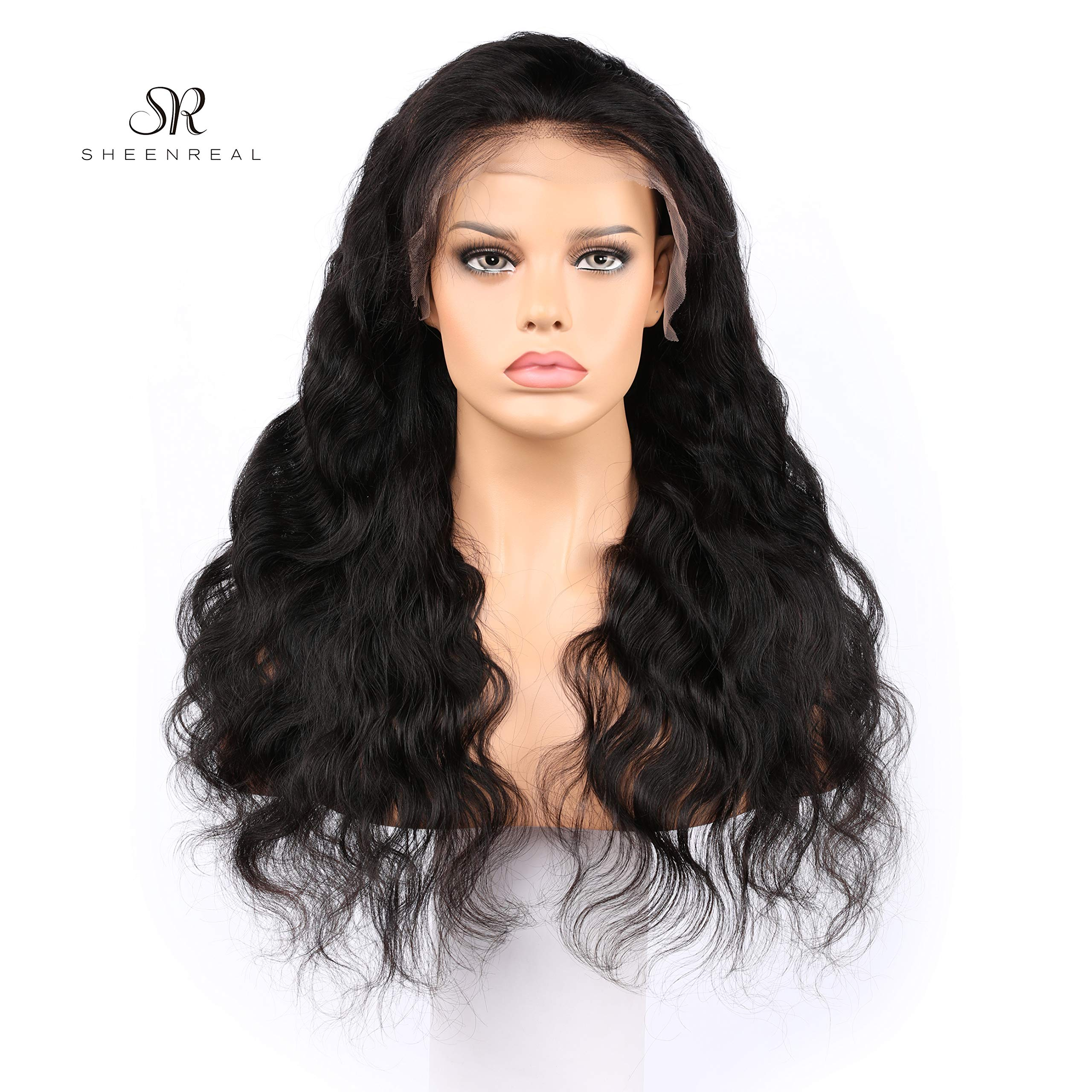 Body Wave Lace Front Wigs Human Hair 180% Density Glueless Brazilian Remy Wavy Human Hair Wigs Pre Plucked Natural Hairline Wigs for Women (16 Inch)- Sheenreal Hair