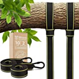 Tree Swing Straps Hanging Kit - Two 10ft Straps, Holds 2800 lbs (SGS Certified), Fast & Easy Way to Hang Any Swing - Outdoor Swing Hangers