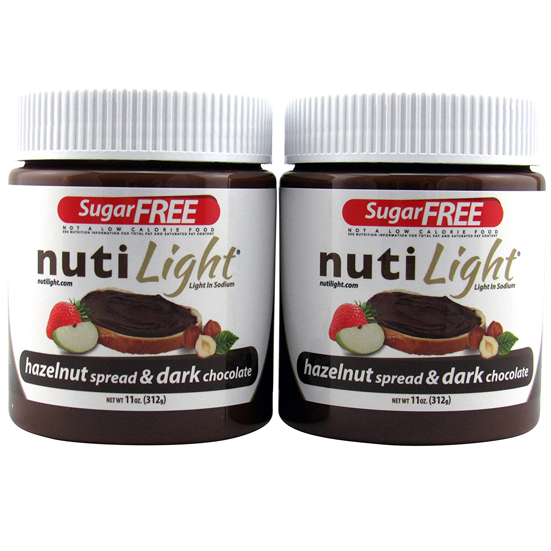 Nutilight Sugar-Free Keto-friendly Hazelnut Spread and Dark Chocolate 11 Ounces (Pack of 2)