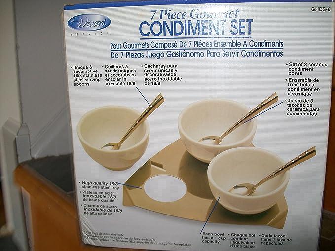 Amazon.com: 7 Piece Gourmet Condiment Set: Kitchen & Dining