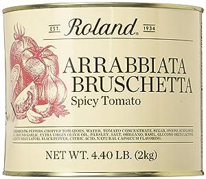 Roland Foods Arrabbiata Bruschetta Spread, Specialty Imported Food, 4.4-Pound Tin