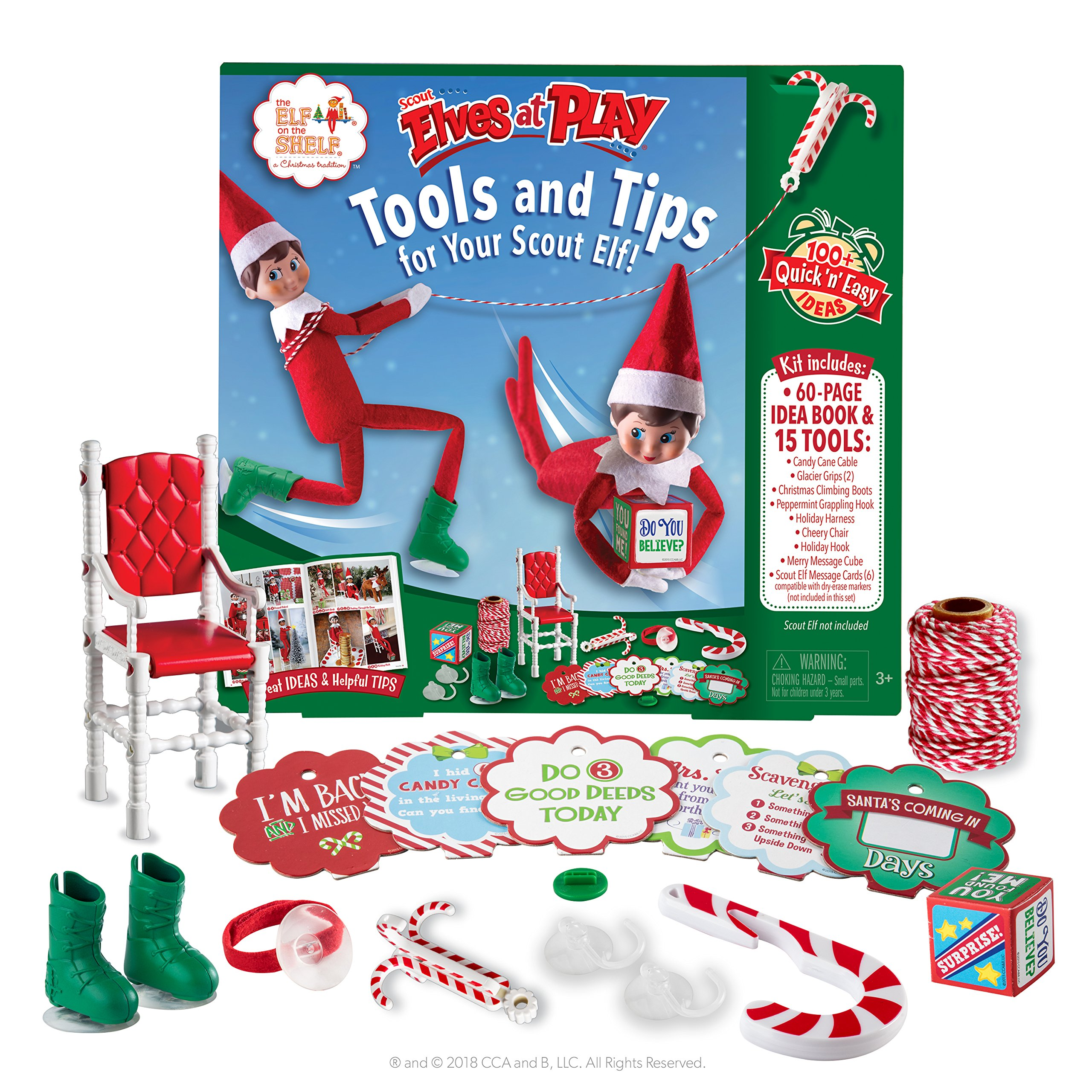 The Elf on the Shelf Scout Elves at Play Kit & Set with 60-page elf idea book | Elf on the Shelf Accessories | Elf on the Shelf Props, Elf Accessories, Elf Ideas, Elf Props | Elf on Shelf Accessories