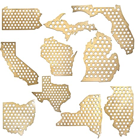 Amazoncom All States Beer Cap Maps Michigan Beer Cap Map MI - Oregon beer cap map