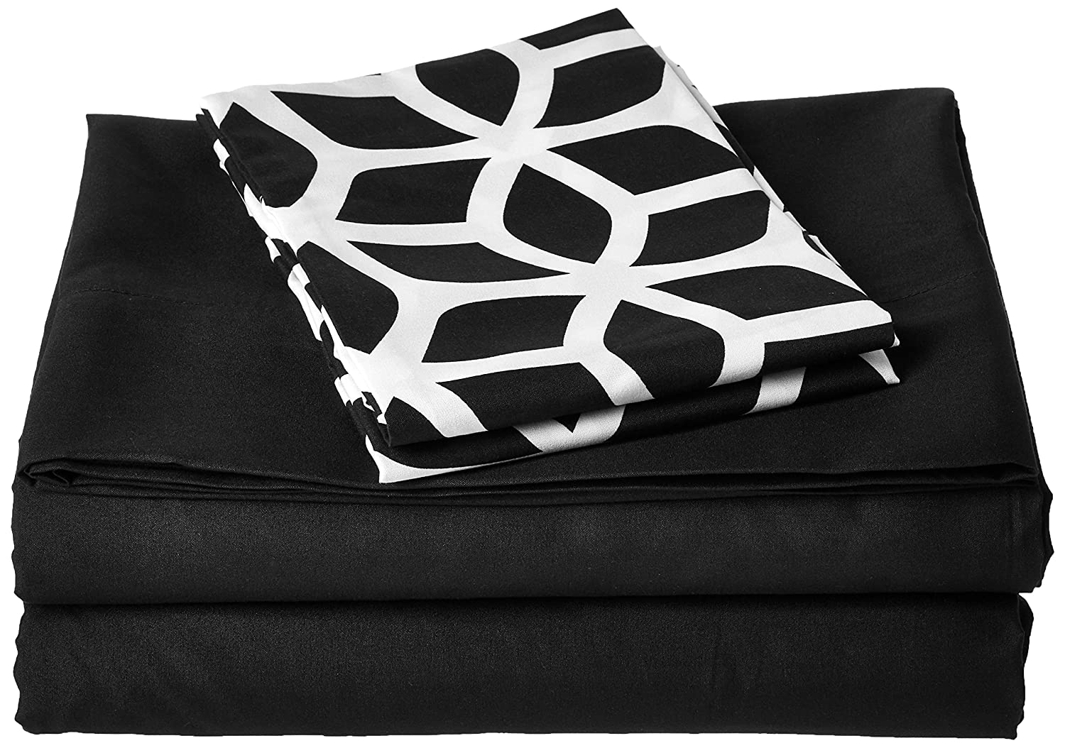 Chic Home 4 Piece Solid Sheet Set Super Soft Brushed Microfiber Sheet Set with 1 Bonus Pillow Case Twin White