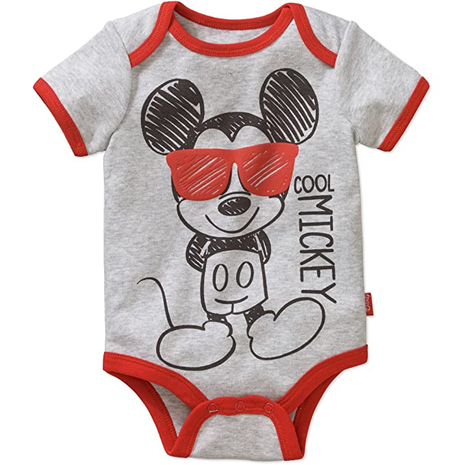 a7f3fdfc49ac Amazon.com  Mickey Mouse Baby Boys  Bodysuit Size 3-6 Months  Clothing