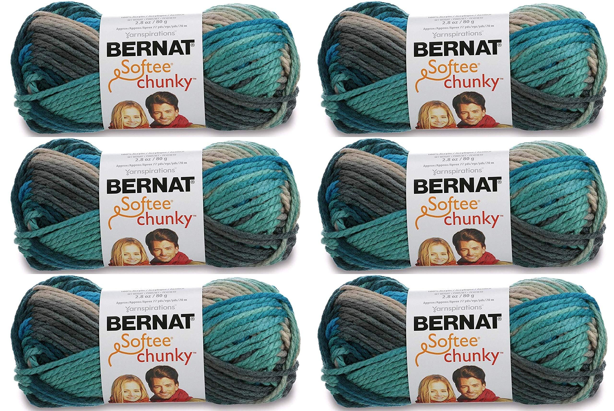 Bulk Buy: Bernat Softee Chunky Ombre Yarn (6-Pack) Deep Waters 161129-29632