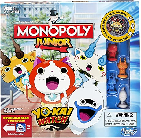 Hasbro Monopoly Junior: Yo-Kai Watch Edition by: Amazon.es: Juguetes y juegos