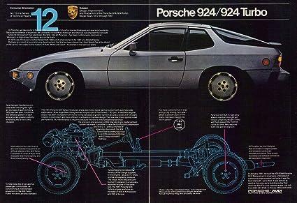 1980 Porsche 924 / 924 Turbo Vintage Original 2-Page Magazine Print Ad