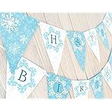 Snow Princess Birthday Banner - Winter Birthday Banner by POP parties