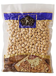 Cerez Pazari Turkish Hazelnuts (Filberts) Double Roasted, Non-GMO, Unsalted, Blanched, No Shell, Natural, Premium Quality, Gluten Free Healthy Snack, Crunchy Taste Snacks for Keto, Paleo, or Vegetarian Diet (1lb Vacuumed Bag)