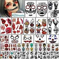 Vellen Halloween Tijdelijke Tattoo Familieset Voor Vrouwen Mannen Jongen en Meisje