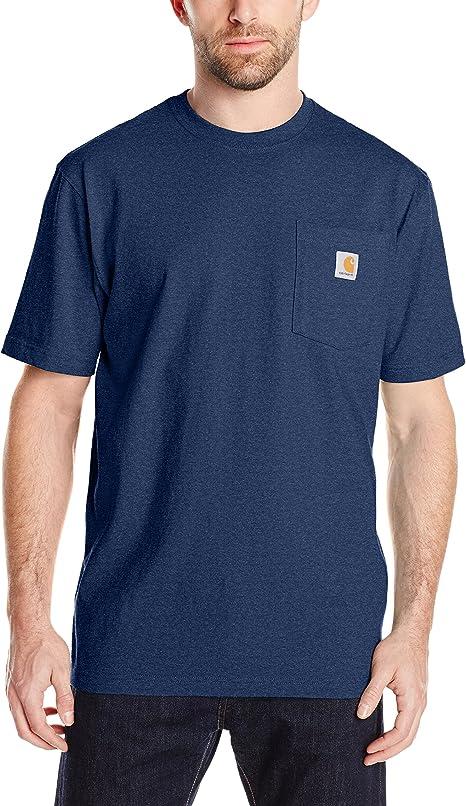 Cotton Regular K87 Short Sleeve Men/'s Work Wear Pocket T-shirt Carhartt