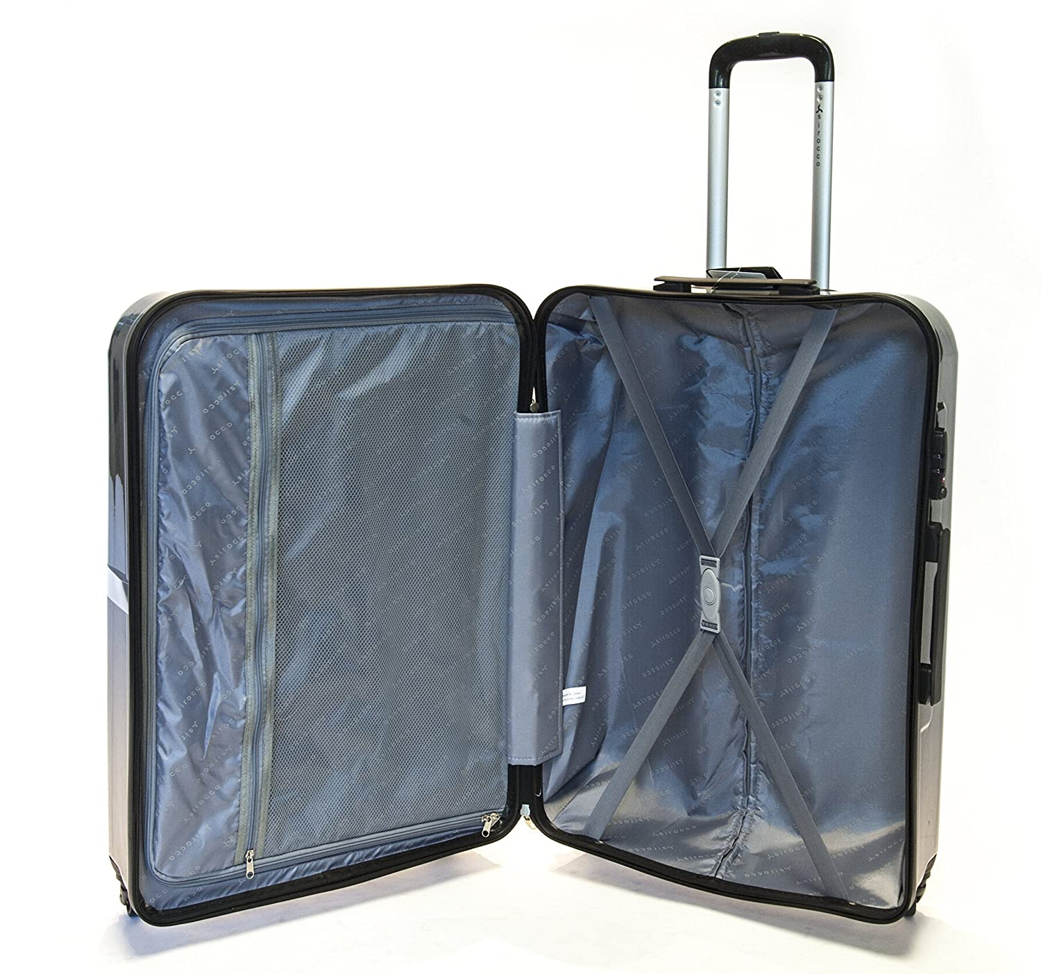 EasyJet /& BA 21 Cabin, Black 21 Premium Super Lightweight Waffle Style PC Durable Hard Shell Luggage Suitcase Travel Trolley Cases with 4 Wheels /& Built-in TSA Lock Cabin Approved for Ryanair