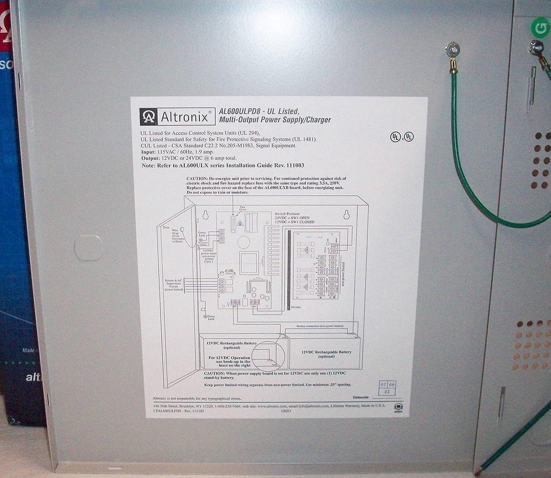 Amazon com : Altronix AL600ULPD8: 8 Fused Outputs Power Supply