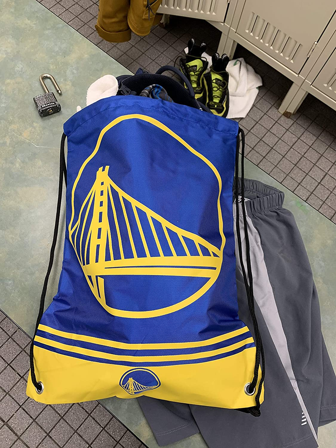 Show Your Team Spirit with Officially Licensed Golden State Fan Gear NBA Gear for The Western Conference Limited Edition FOCO Big Logo Drawstring Backpack