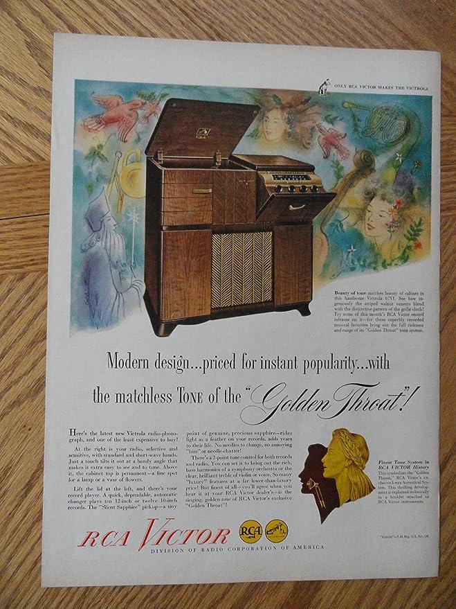 Amazon Com Rca Victor Radios Authentic 1947 Color Illustration