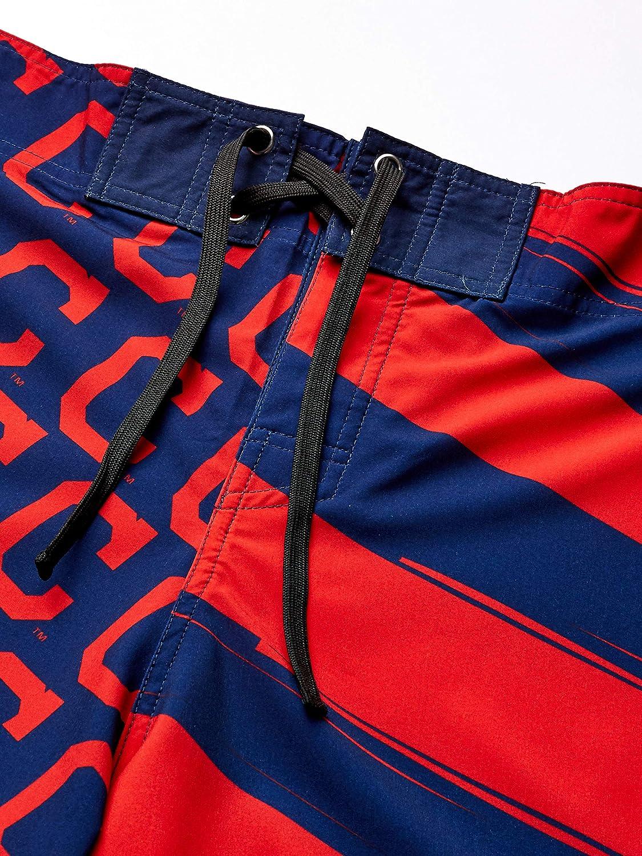Team Color OS MLB Cleveland Indians Mens Diagonal Flag BOARDSHORTDIAGONAL Flag Boardshort