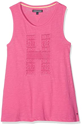 cc383ce4ee2ee9 Tommy Hilfiger Girls H Tanktop Tank Top  Amazon.co.uk  Clothing