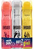 Engage Deodorant for Women, 150ml Buy 2 Get 1 Free (Blush, Drizzle & Tease)