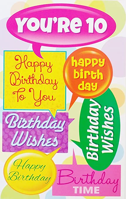 Amazon Youre 10 Happy 10th Birthday To You Greeting Card