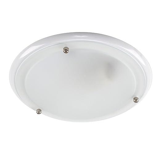Modern glass bathroom ceiling light ip44 modern bianco amazon modern glass bathroom ceiling light ip44 modern bianco audiocablefo