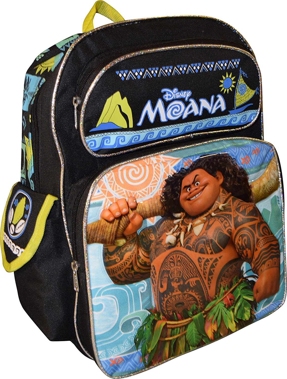 "Disney Moana w// Pua /& The Kakamora 16/"" Canvas Backpack for Kids Back to School"