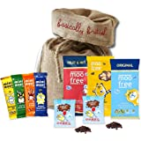 Moo free original organic egg and mini moos easter collection by moo free dairy free chocolate bars in basically british burlap bag 9 gluten free vegan negle Image collections